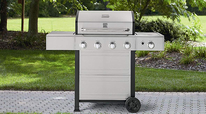 Kenmore 4 Burner Gas Grill with Stainless Steel Lid Featured Image